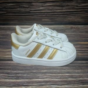 ADIDAS Classic Superstar Sneakers Baby Sz 5 Girl